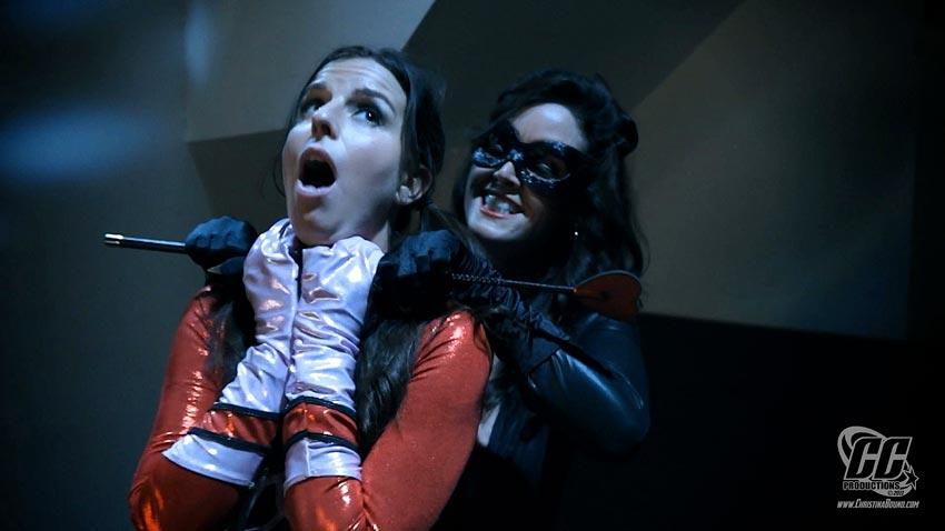 Christina Carter and Kobe Lee in Dyna-Girls Demise