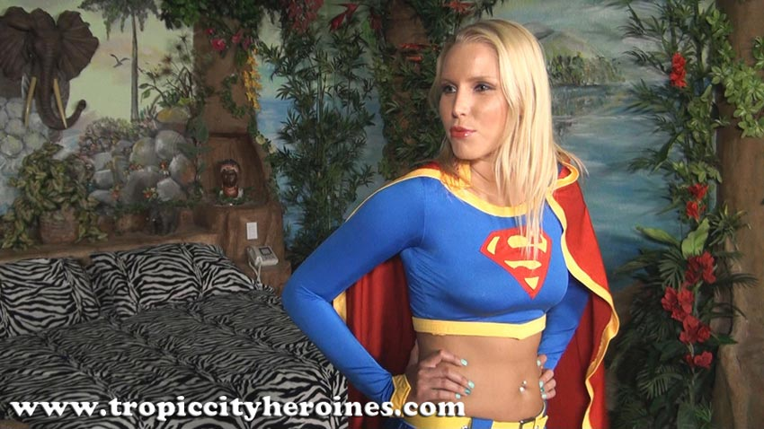"""Supergirl Meets Speed Demon"" from Tropic City Heroines"