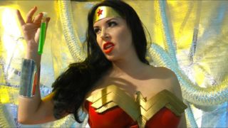 """Wonder Woman vs Sinestro"" from Anastasia Pierce"