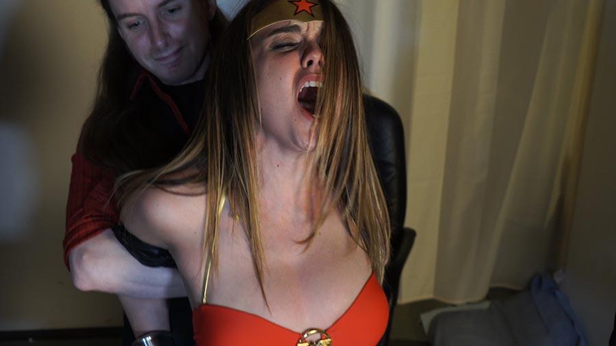 Superheroine punished