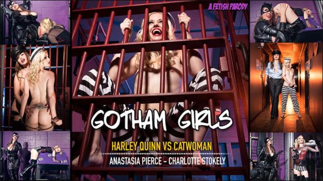 """Gotham Girls: Harley Quinn vs Catwoman"" from Anastasia Pierce"