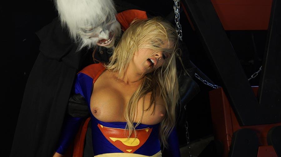 Punished superheroine