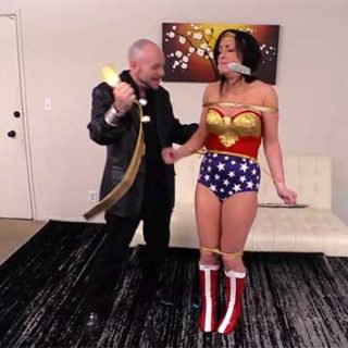"""Wonder Woman X 2"" from Fighting Heroines in Sexy Perils"