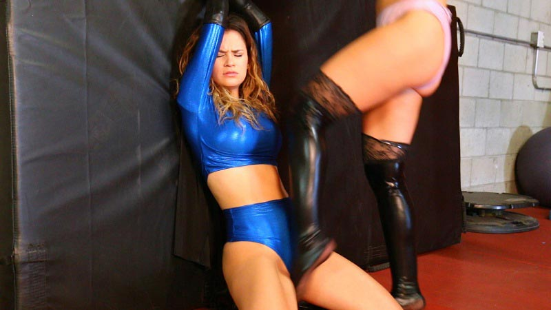 """Iron Girl vs. The Sleep Mistress"" from Superheroine World"