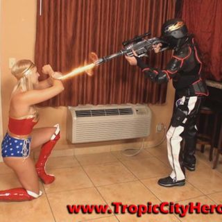 """Wonder Woman: Sonic Blast"" from Tropic City Heroines"
