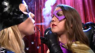 """Batgirl Helpless, Catwoman vs Batgirl"" from Anastasia Pierce"