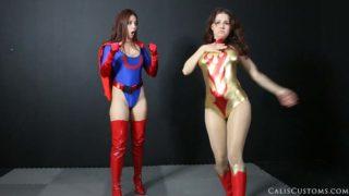 """Superheroines vs Aliens"" from Cali Logan"